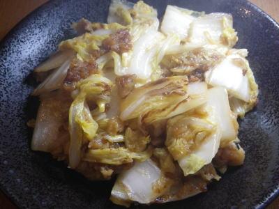白菜の生姜焼き