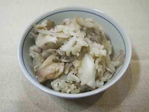 里芋と舞茸の炊き込みごはん